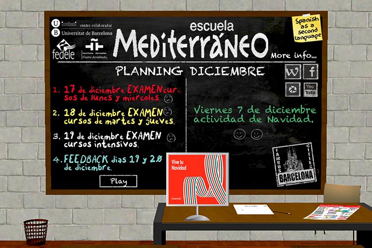 Spanish school planning december 2018