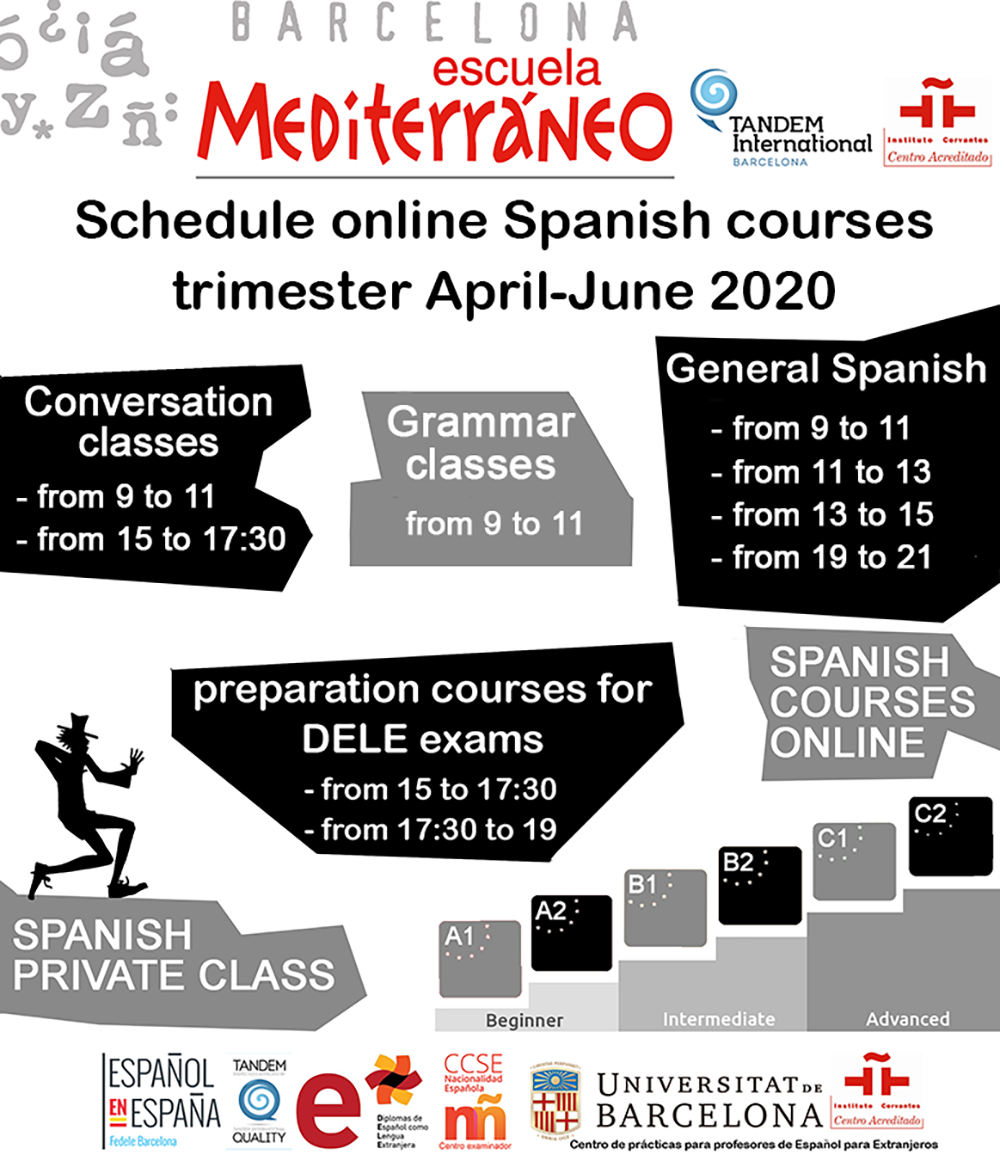 Online Spanish courses shedule