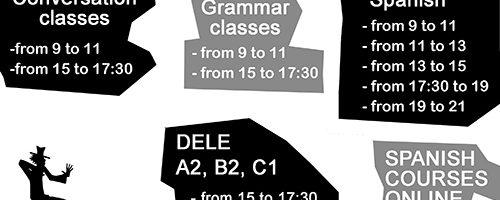 Escuela Mediterraneo Barcelona Spanish courses Schedule