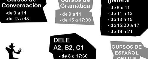 Escuela Mediterraneo Barcelona Spanish courses Schedule 2018