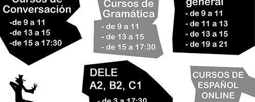 Escuela Mediterraneo Barcelona Spanish course Schedule spanish 2018 enero