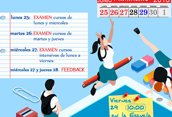 Escuela Mediterraneo Barcelona Spanish school Exams june 2018