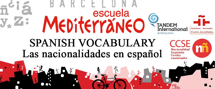Spanish vocabulary nationalities in Spanish