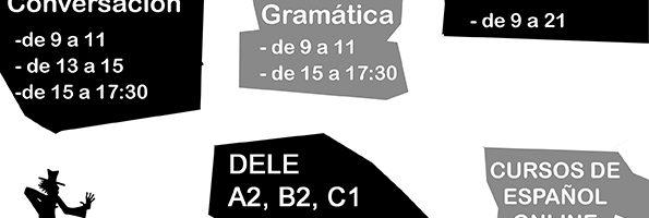 Escuela Mediterraneo Spanish coures Schedule october december 2017