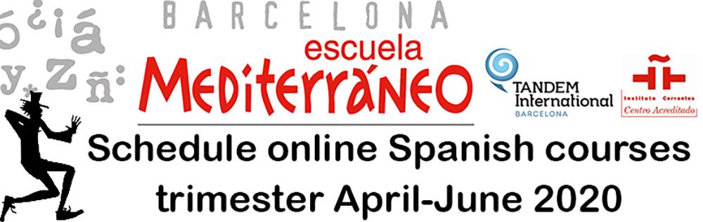 Online Spanish courses schedule