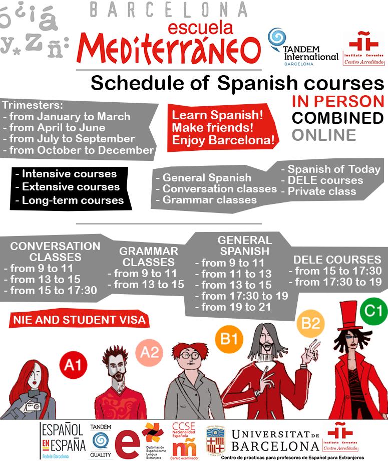 Schedule-Spanish-courses-online-multimodal-Escuela-Mediterraneo-Barcelona-min