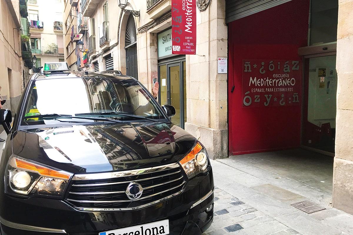 Foto de un taxi de Barcelona
