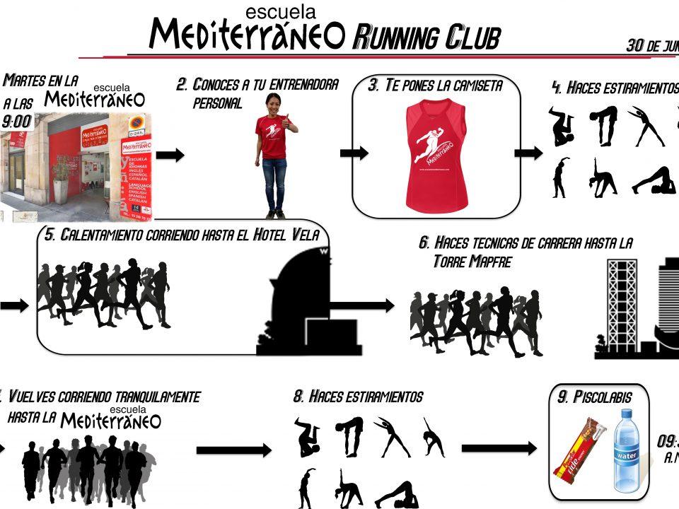 Escuela Mediterraneo Barcelona running club junio 2015